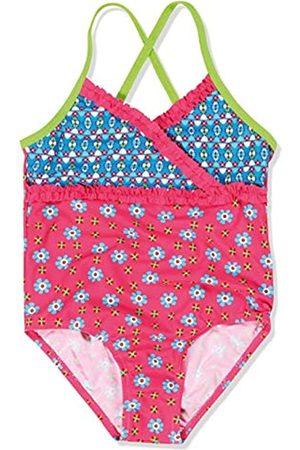 Playshoes Mädchen Einteiler Badeanzug Blumen, UV-Schutz nach Standard 801 und Oeko-Tex Standard 100