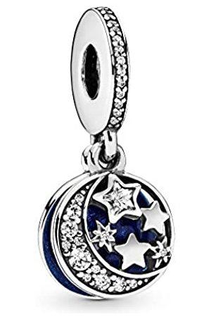 PANDORA Moments Moon & Blue Sky Charm-Anhänger Sterling Silber, Cubic Zirkonia