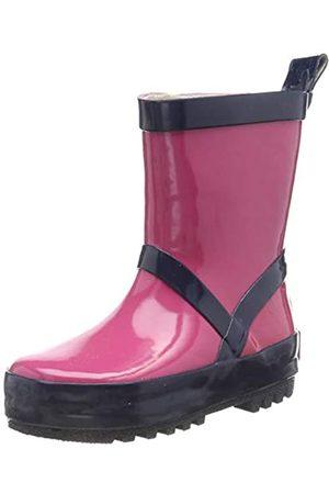 Playshoes Unisex-Kinder Uni Naturkautschuk Gummistiefel, Pink (Pink/Marine 644)