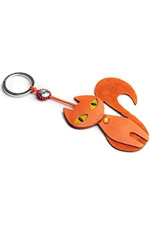 Dallaiti Design Schlüsselanhänger, Veloursleder, Swarovski-Kristalle mit Schlüsselring