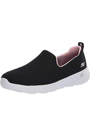 Skechers Damen Go Walk Joy Sneaker, (Black Textile/Pink Trim Bkpk)