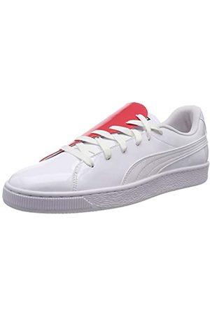 Puma Damen Basket Crush WN's Sneaker, White-Hibiscus