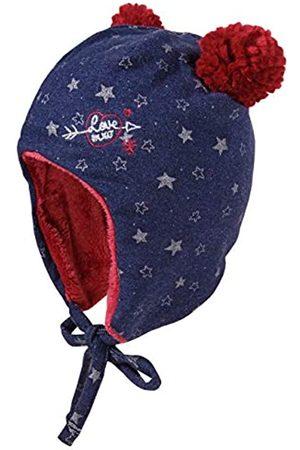 maximo Baby-Mädchen aus Sweat mit Sternen und Pompons und Bindeband Mütze