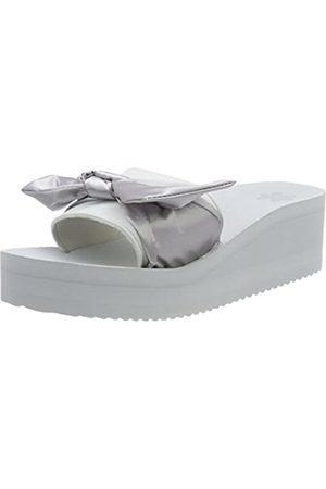 flip*flop Damen poolwedge Bow Offene Sandalen, (Silver)