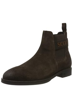 SCOTCH & SODA FOOTWEAR Herren PICARO Chelsea Boots, (Dark Brown S46)
