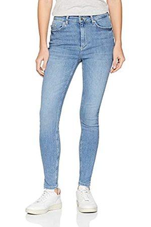 Pieces Damen Skinny Jeans PCDELLY HW SKN CRP Slit LB107-BA