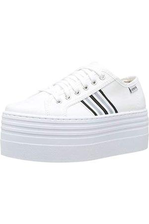victoria Unisex-Erwachsene Barcelona Doble Lona/detalle Sneaker, (Blanco 20)