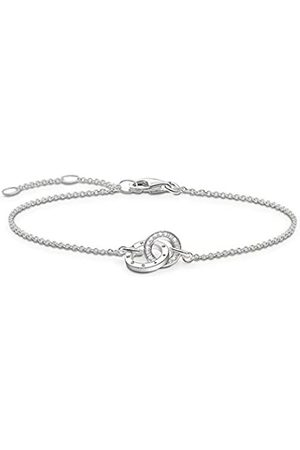 Thomas Sabo Damen-Armband Together Forever Glam & Soul 925 Sterling Silber Diamant Länge von 16.5 bis 19.5 cm D_A0006-725-14