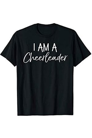I Love Cheerleading & Gymnastics Design Studio Cute Matching Cheerleading Gifts for Girl I Am a Cheerleader T-Shirt