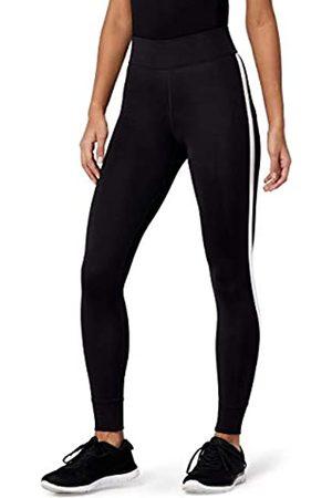 AURIQUE Amazon-Marke: Damen 7/8-Sportleggings mit Seitenstreifen, 36