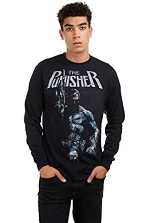 Marvel Herren Punisher Stance Long Sleeve Tee T-Shirt