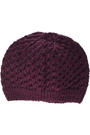 Peopletree Damen Textured Beanie Strickmütze, Purple (Burgundy)