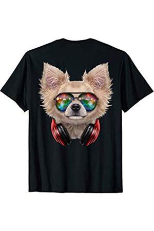 Fox Republic T-Shirts Chihuahua Hund als DJ im Raum-Galaxie-Sonnenbrille T-Shirt