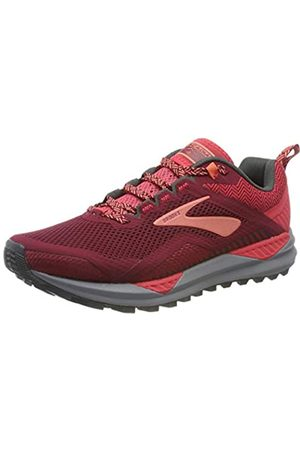 Brooks Damen Cascadia 14 Laufschuhe, (Rumba Red/Teaberry/Coral 628)