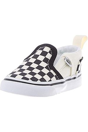 Vans Unisex Baby Asher V Sneaker, (Checkers/Black/Natural)