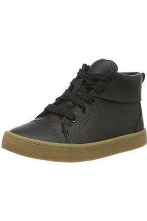 Clarks Jungen City OasisHi K Hohe Sneaker, (Black Leather Black Leather)