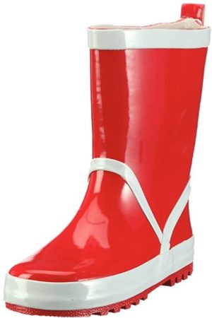 Playshoes Kinder Gummistiefel aus Naturkautschuk, trendige Unisex Regenstiefel mit Reflektoren, ( 8)