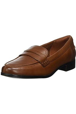 Clarks Damen Hamble Loafer Slipper, (Tan Leather)