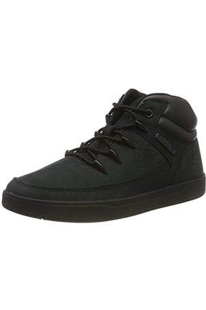 Timberland Unisex-Kinder Davis Square Eurosprint Sneaker, (Black Nubuck)