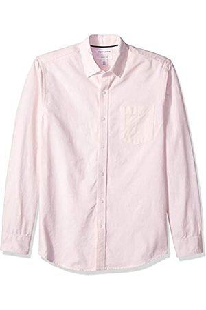 Amazon Herren-Oxford-Shirt, Langarm, schmale Passform, gestreift