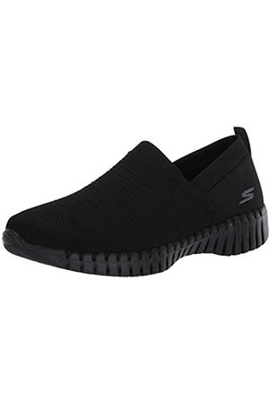 Skechers Damen Go Walk Smart- Wise Sneaker, (Black Textile/Trim BBK)