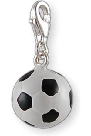 Melina Damen-Charm Anhänger Fußball Emaille 925 Sterling Silber 1800054