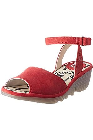 Fly London Damen Pato976fly Knöchelriemchen Sandalen, (Lipstick Red 001)