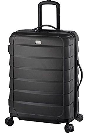 JSA Reisetrolley M, Rollkoffer aus ABS Kunststoff, Reisekoffer mit 4 doppelten 360° Leichtlaufrollen Koffer, 62 cm