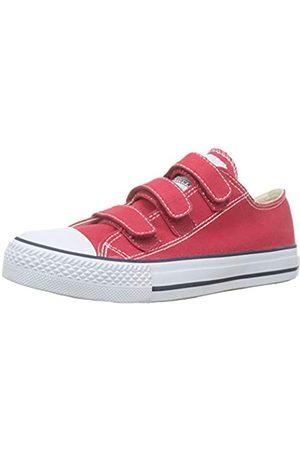 victoria Unisex-Erwachsene Tribu Velcros Lona Sneaker, (Rojo 40)