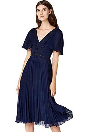 TRUTH & FABLE Amazon-Marke: Damen Partykleid mit Plisseefalten, 38