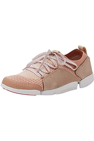 Clarks Damen Tri Amelia Sneaker, Pink (Light Pink Combi)