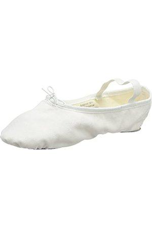 So Danca Damen Bae23 Riemchenballerinas, (White)