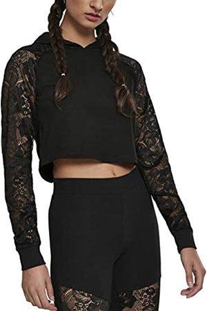 Urban classics Damen Ladies Short Laces Hoody Kapuzenpullover