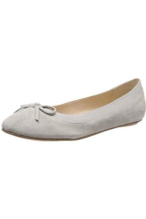 Buffalo Damen ANNELIE Geschlossene Ballerinas, (Light Grey 001)