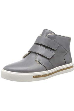 Clarks Damen Un Maui Mid Hohe Sneaker, (Grey Leather Grey Leather)