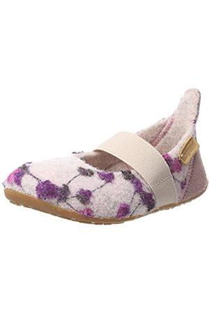Bisgaard Mädchen Wool Ballet Slipper, Mehrfarbig (159 Rose-Flowers)
