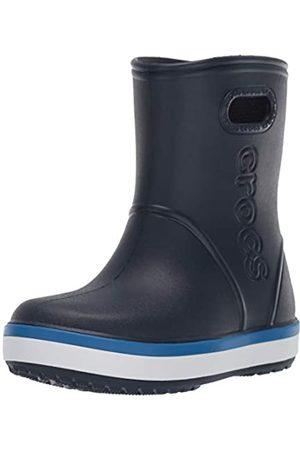 Crocs Crocband Rain Boot Kids, Unisex-Kinder Gummistiefel, (Navy/Bright Cobalt 4kb)