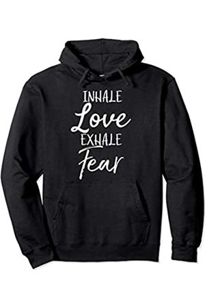 P37 Design Studio Jesus Shirts Christian Quote Gift for Women Yoga Inhale Love Exhale Fear Pullover Hoodie