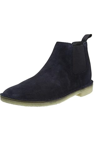 Clarks Herren Desert Chelsea Boots, (Navy Suede Navy Suede)