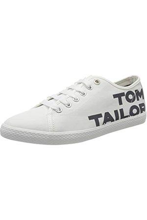 TOM TAILOR Damen 8091003 Sneaker, Mehrfarbig (White-Navy 00104)