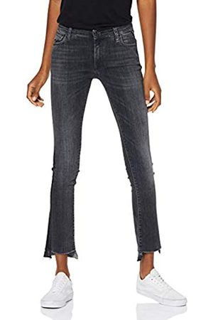 Replay Damen DOMINIQLI Bootcut Jeans, (Black 98)