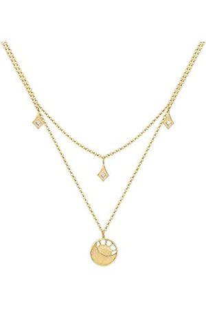 Elli Halskette Sonne Astro Mond Swarovski® Kristalle 925 Silber