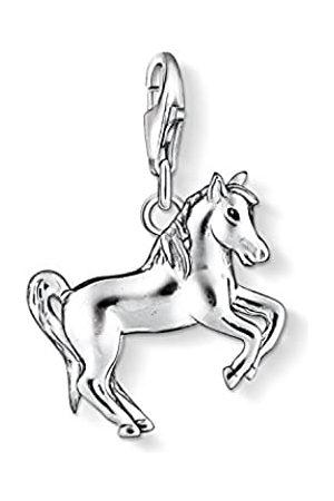 Thomas Sabo Damen-Charm-Anhänger Pferd Charm Club 925 Sterling schwarz 1074-007-12