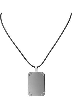 Akzent Damen-Anhnger Edelstahl mit Kautschukkette 45cm 002500000120
