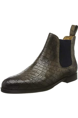 Melvin & Hamilton Damen Susan 10 Chelsea Boots, (Grey Crock-Grigio-Elastic-Navy-Lining-Rich Tan-Insole Leather-HRS-Black)