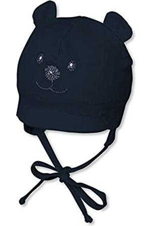 Sterntaler Schirmmütze für Jungen mit Bindebändern, Nackenschutz und niedlichem Bärchen-Motiv, Alter: 1-2 Monate, Größe: 35