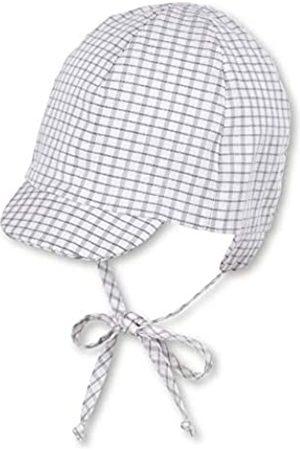 Sterntaler Baby-Jungen Schirmmütze Bindebändern, Ohrenklappen und Gittermuster Mütze