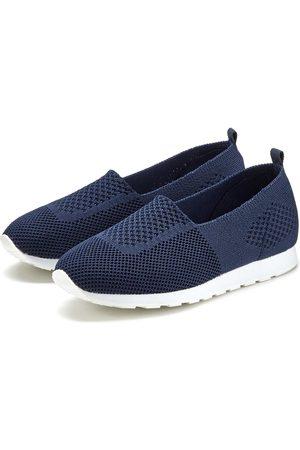 Lascana Damen Sneakers - Slip-On Sneaker aus Textil