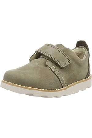 Clarks Jungen Crown Park T Slipper, (Khaki Leather)