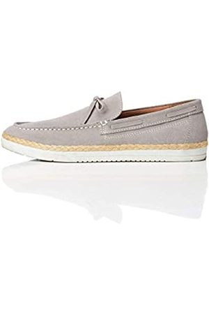 FIND Edwin Jute Tie Loafer, (Light Grey)